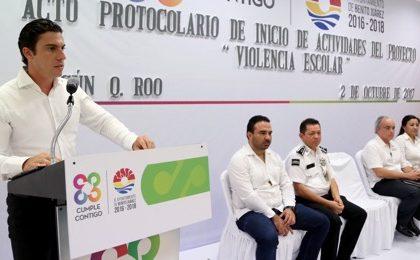 """Ponen en marcha proyecto """"Violencia Escolar"""" en Benito Juárez"""