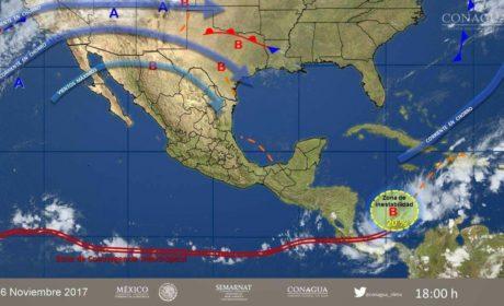 Pronóstico climatológico para el 17 de noviembre