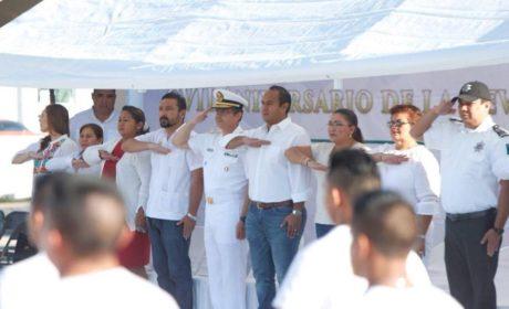 CONMEMORAN EL 107 ANIVERSARIO DE LA REVOLUCIÓN MEXICANA EN LA ZONA CONTINENTAL DE ISLA MUJERES