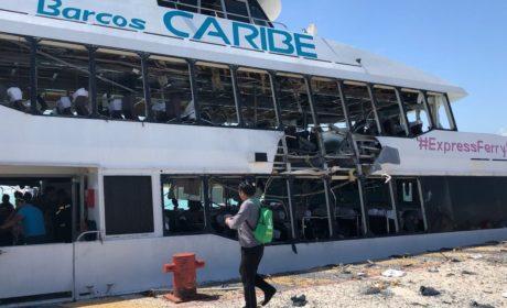 LLEGAN PERITOS DE LA CDMX PARA INVESTIGAR LA EXPLOSIÓN EN BARCOS CARIBE