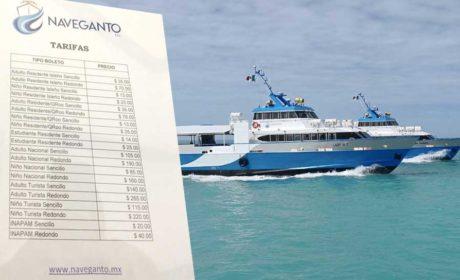 Naveganto inicia operaciones con viajes redondos por 70 pesos hacia Isla Mujeres
